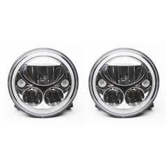 "7"" ROUND LED HEADLIGHTS (PR) - Vision X XIL-7RDKIT 9891224"