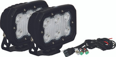 KIT OF 2 DURALUX WORK LIGHT 6 LED 10 DEGREE W/ HARNESS - Vision X DURA-610KIT 9891309