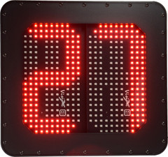 VISION X ID NUMBER BOARD 2 DIGIT RED LEDS WITH MOUNTING BRACKET