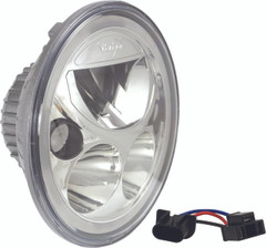 "7"" ROUND VORTEX LED HEADLIGHT with LED-HALO.  XIL-7RD"