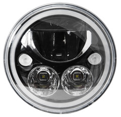 "XMC-7RDB 9892436 7"" BLACK CHROME LED HEADLIGHT"