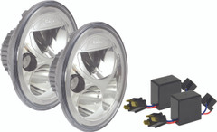 "JEEP JK LED HEADLIGHT KIT - 7"" ROUND VORTEX LED HEADLIGHTS W/ HALO & ANTI-FLICKER ADAPTERS - Vision X XIL-7RDKITJK 9892733"