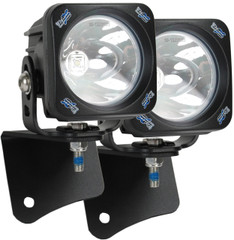 JEEP WRANGLER TJ (1997-2006) A-PILLAR LIGHT MOUNT BRACKET WITH OPTIMUS SQUARE 10 DEGREE LIGHTS AND HARNESS