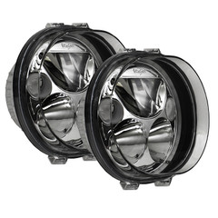 "TWO 5.75"" OVAL VORTEX LED HEADLIGHT W/ LOW-HIGH-HALO ** BLACK CHROME FACE - Vision X XMC-575ODBKIT 9895697"