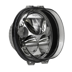 "SINGLE BLACK CHROME FACE 5.75"" OVAL VORTEX LED HEADLIGHT W/ LOW-HIGH-HALO - Vision X XMC-575ODB 9895680"