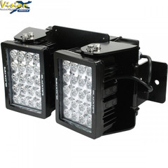20 LED WORKLIGHT, DUAL LIGHT AC ASSEMBLY  90° Wide Flood Beam  Blacktips  BLB072090D