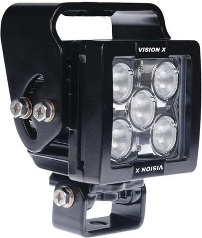 5 LED WORKLIGHT WITH HANDLE, 35 WATTS  40° Medium Beam  Blacktips - Vision X BLB070540H 9893754
