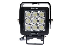 9 LED WORKLIGHT, 63 WATTS  90° Wide Flood Beam  Blacktips  BLB070990