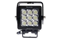9 LED WORKLIGHT, 63 WATTS  30° x 65° Elliptical (Oval) Beam  Blacktips  BLB07093065