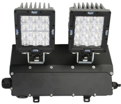 AC Powered Dual Ripper LED Wall Pack.  CXA-WM2RPX1260