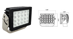 90° 100 Watt Marine Grade Ripper LED Light - Vision X MAR-RXP2090T