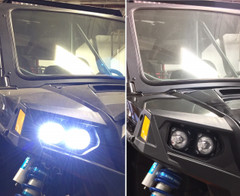 Polaris RZR LED Headlight Kit.   2008-2016 RZR 900, 800, 570 and 170 - Vision X XIL-OEHL08RZR900OP 9898582