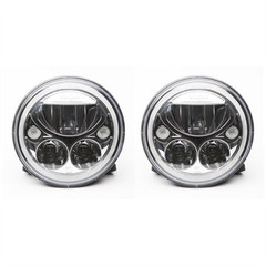 "E-Mark CHROME 7"" ROUND LED HEADLIGHT. VISION X XIL-7REL"