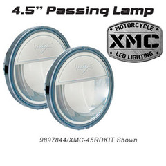 "Chrome 4.5"" LED passing lamps.  XMC-45RDKIT 9897844"