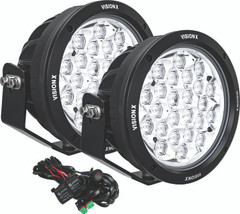 "PAIR OF 8.7"" 24 LED LIGHT CANNON GEN 2 INCLUDING HARNESS USING DTP CONNECTOR Vision X CG2-CPM2410KIT 9907451"