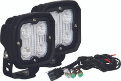 KIT OF 2 DURALUX WORK LIGHT 4 LED 10 DEGREE W/ HARNESS Vision X DURA-410KIT 9891187