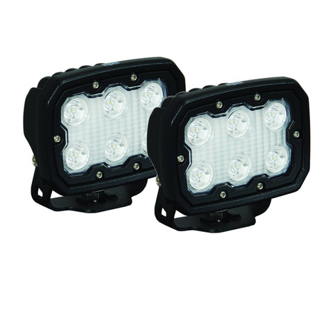 KIT OF 2 DURALUX WORK LIGHT 6 LED 40 DEGREE W/ HARNESS Vision X DURA-640KIT 9892696