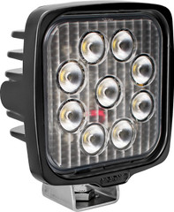 VISION WORK LIGHT SERIES SQUARE NINE 5-WATT LEDS 40 DEGREE FLOOD PATTERN WITH DUETSCH CONNECTOR Vision X VWS050940 9911373