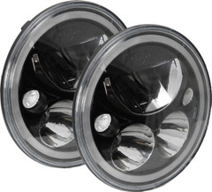 "XIL-575RDBKIT 9895642 BLACK CHROME 5.75"" ROUND LED HALO HEADLIGHT KIT."
