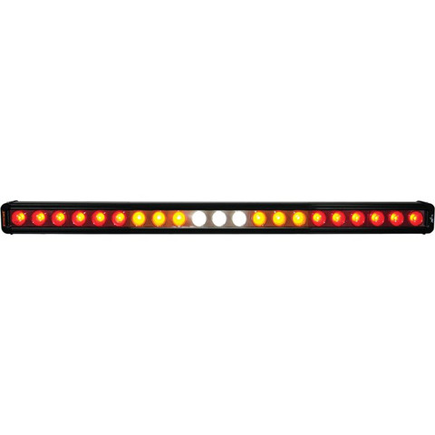 """FACTORY ORDER ITEM - WITHOUT FLASHER 28"""" CHASER BAR SINGLE ROW 21 LEDS (SPLIT CIRCUIT, RED\AMBER\WHITE\AMBER\RED) Vision X XIL-CBSR21NF 9908762"""