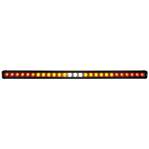 """FACTORY ORDER ITEM - WITHOUT FLASHER 35"""" CHASER BAR SINGLE ROW 27 LEDS (SPLIT CIRCUIT, RED\AMBER\WHITE\AMBER\RED) Vision X XIL-CBSR27NF 9908779"""