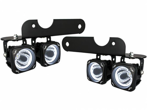 2017+ FORD RAPTOR LED HALO FOG LIGHT KIT INCLUDING 4 X XIL OPH115 OPTIMUS  HALO LIGHTS, BRACKETS AND WIRING Vision X XIL OE17FROPH 9906096