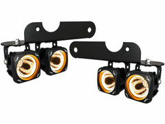 2017+ FORD RAPTOR LED HALO FOG LIGHT KIT INCLUDING 4 X XIL-OPHA115 OPTIMUS AMBER HALO LIGHTS, BRACKETS AND WIRING Vision X XIL-OE17FROPHA 9907208