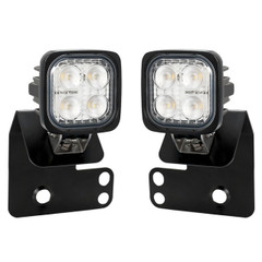 "2/4 SEAT RZR ""D"" PILLAR SINGLE LIGHT MOUNT L&R INCLUDING 2 X DURA-M460 FLOOD LIGHTS FOR WIRING TO REVERSE INPUT (NOT INCLUDED) Vision X XIL-OED08RZRDURAM 9917313"