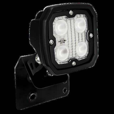 SINGLE LEFT 2/4 SEAT RZR D PILLAR MOUNT AND DURA 4 LED 60 DEGREE LIGHT KIT (DRIVER'S SIDE) Vision X XIL-OED08RZRLDURA460 9910963