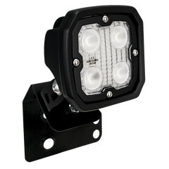 SINGLE LEFT 2/4 SEAT RZR D PILLAR MOUNT AND DURA 4 LED 60 DEGREE LIGHT KIT (DRIVER'S SIDE) Vision X XIL-OED08RZRLDURA460 9910963