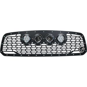 "2013-CURRENT DODGE RAM 1500 CANNON GEN 2 STYLE GRILLE WITH 4 GEN 2 4.5"" (2 OPTIC CG2-CP710 AND 2 REFLECTOR CG2-CPZ110) Vision X XIL-OEGC13DRCG2 9907987"