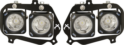 FACTORY HEADLIGHT CHROME UPGRADE LIGHT KIT FOR SELECT 2008 AND UP POLARIS RZR 900\S\4\570\170 INCLUDING 4 X XIL-OPR110C, WIRING ADAPTERS AND INSTRUCTIONS Vision X XIL-OEHL08RZR900OPC 9898599