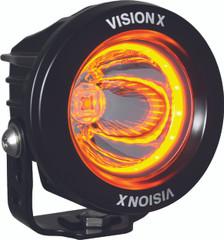 "3.0"" OPTIMUS AMBER HALO SERIES PRIME BLACK 10-WATT LED LIGHT 15 DEGREE BEAM - EMARK CERTIFIED Vision X XIL-OPRHA115 9907185"
