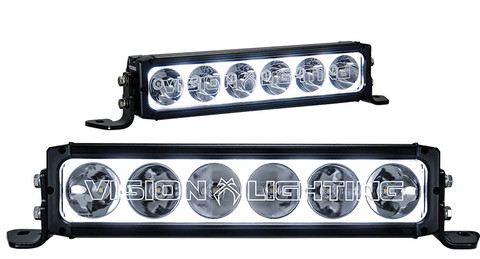 """19"""" XPR HALO 10W LIGHT BAR 6 LED TILTED OPTICS FOR MIXED BEAM Vision X XPR-H9M 9911816"""