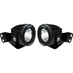 "2008-2017 Polaris RZR A-Pillar Mounted Optimus Series 3.7"" 2x10W Round Narrow Beam LED Lights Kit - Vision X XIL-OEAS08RZROPR"