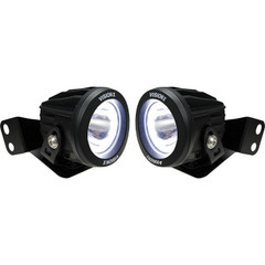"2008-2017 Polaris RZR A-Pillar Mounted Halo Optimus Series 3.7"" 2x10W Round Narrow Beam LED Lights Kit - Vision X XIL-OEAS08RZROPRH"