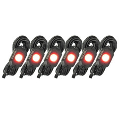 6 Pod LED Rock Light Kit,Red HIL-RL6R  9929408