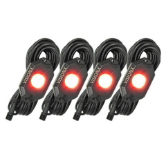 4 Pod LED Rock Light Kit Red HIL-RL4R  9929347