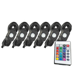 6 Pod LED Rock Light Kit, Multi-Color Bluetooth HIL-RL6M  9929392