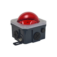 10-Watt Junction Box Lighting Red Lens - LSGSM40180PCVR