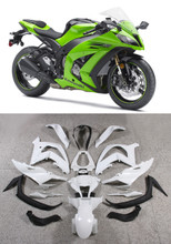 Fairings Plastics Kawasaki ZX10R Ninja Green Racing (2011-2014)