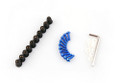 Windshield / Windscreen Bolts Kit Ducati, Honda, Kawasaki, Suzuki, Triumph, Yamaha, (All Year & Model) 10 Pcs. Size: M5, Blue