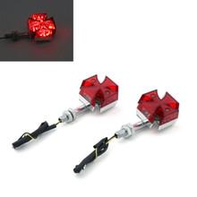 Maltese Cross LED Turn Signal Indicator Lights Universal Honda, Yamaha, Kawasaki, Suzuki, Red