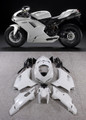 Fairings Ducati 1098 1198 848 White 1198 Racing (2007-2011)