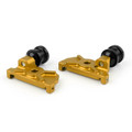 CNC Swingarm Spool Adapters Yamaha YZF-R25 (2015) Gold