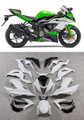 Fairings Plastics Kawasaki ZX6R 636 Green White Ninja Racing (2013-2015)