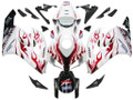 Fairings Honda CBR 1000 RR White & Red Flame Shark Racing (2004-2005)