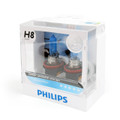 2 x Philips H8 12360 Diamond Vision 5000K 12V 35W White Light Halogen Bulbs Lamp