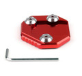 Side Kickstand Stand Extension Plate Suzuki GSR 750 (11-15) GSX-S1000/F (15-16) Red