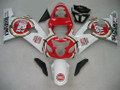 Fairings Suzuki GSXR 600 750 White & Red Lucky Strike Racing  (2004-2005)